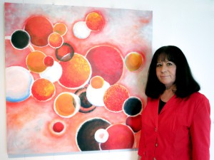 Meike Hille-Blaser mit Werk