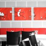Mietkunst von kunst³ in der Gastronomie