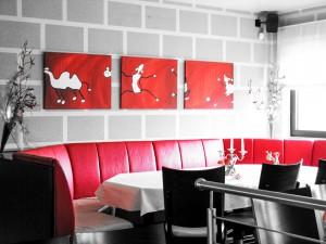 Mietkunst im Restaurant